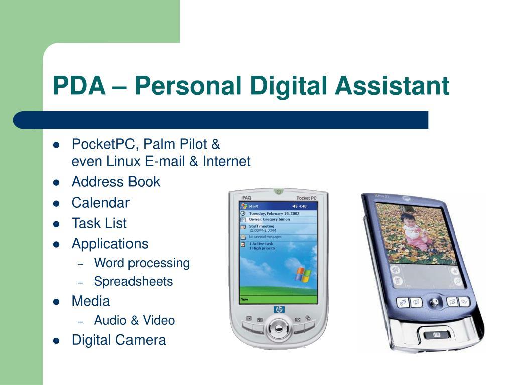 PDA – Personal Digital Assistant