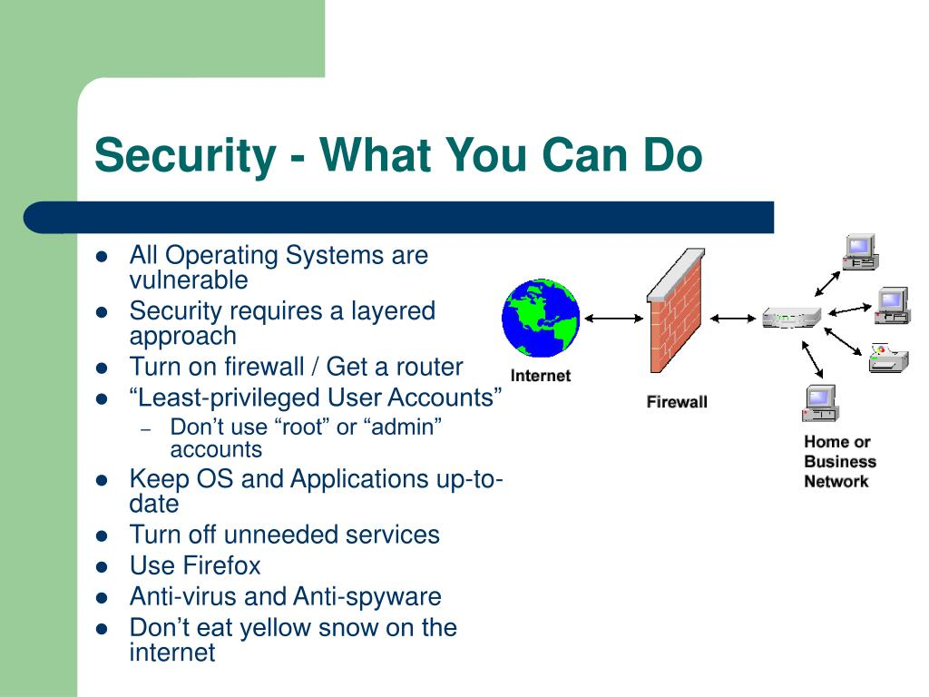 Security - What You Can Do