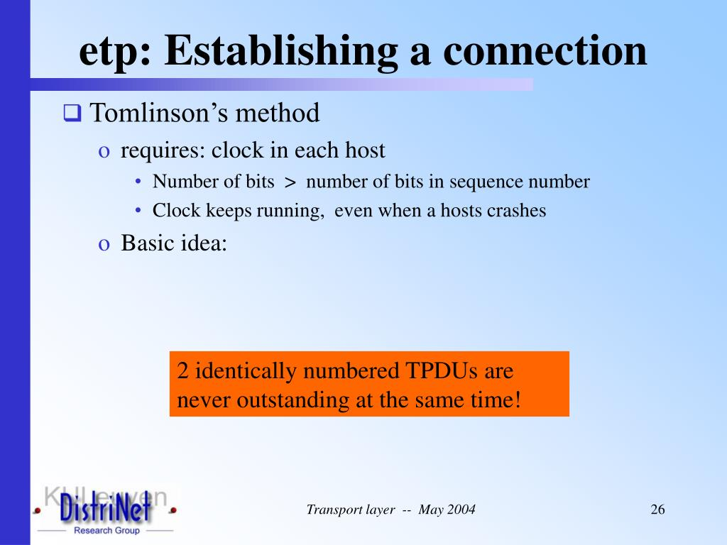 etp: Establishing a connection