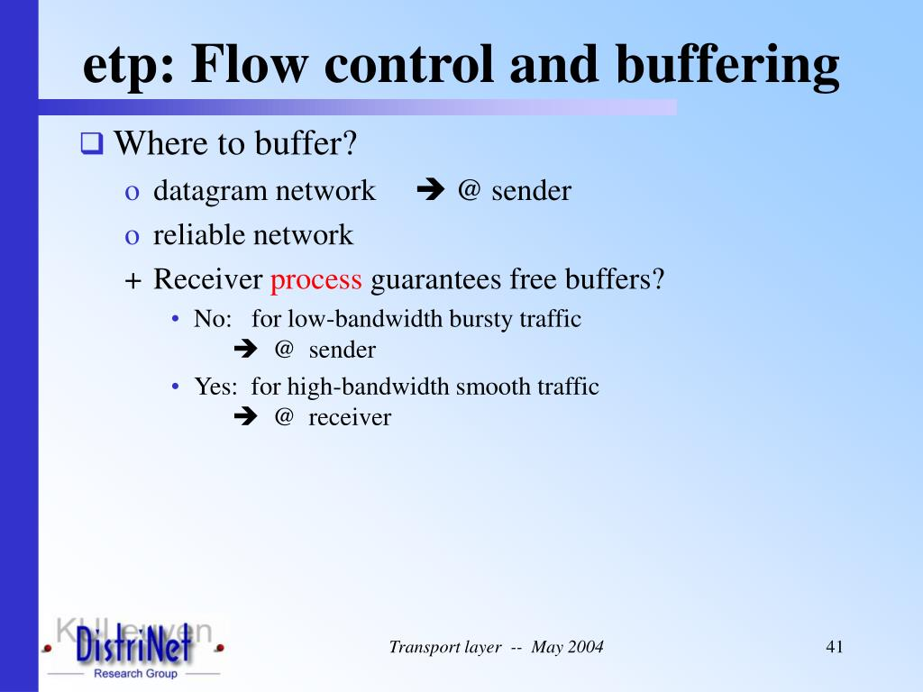 etp: Flow control and buffering