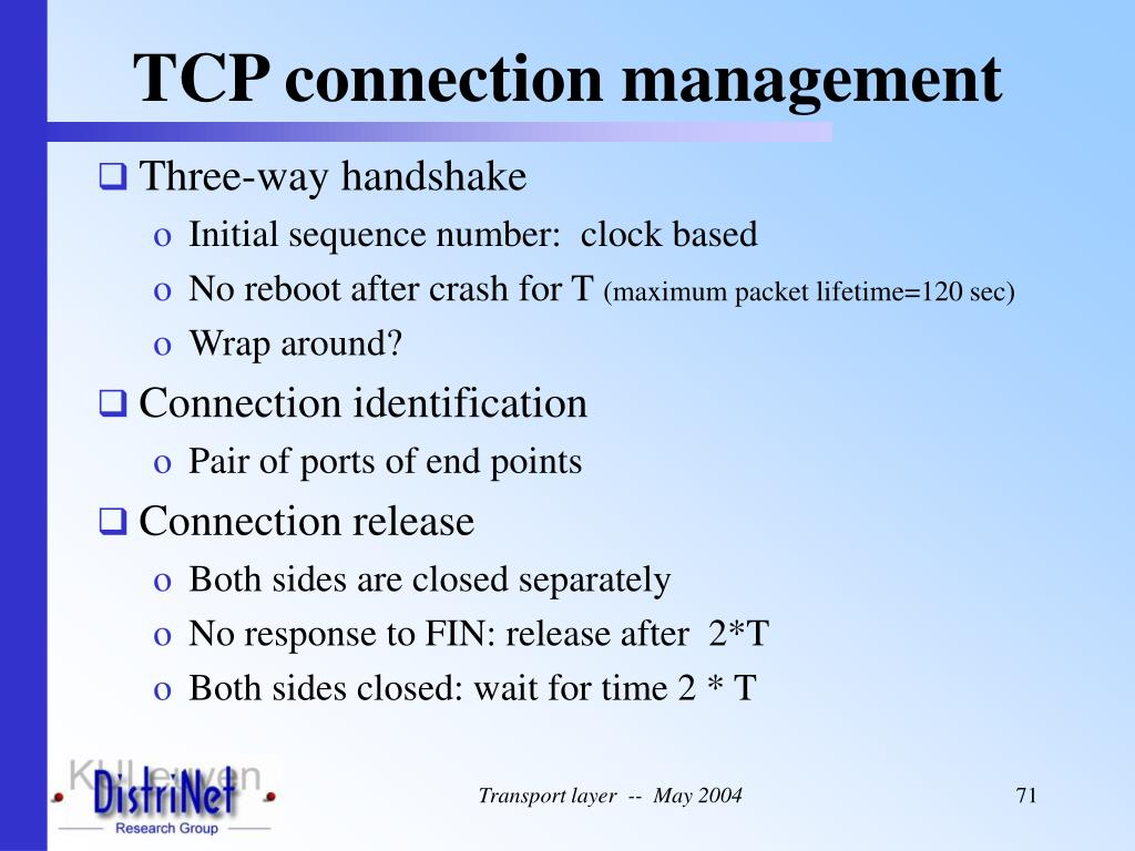 TCP connection management