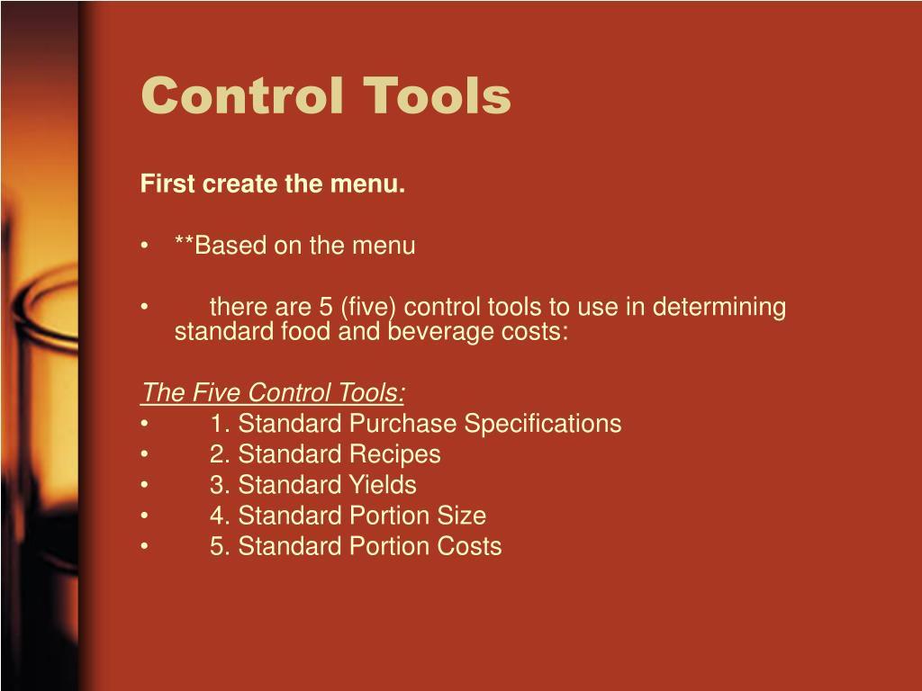 Control Tools