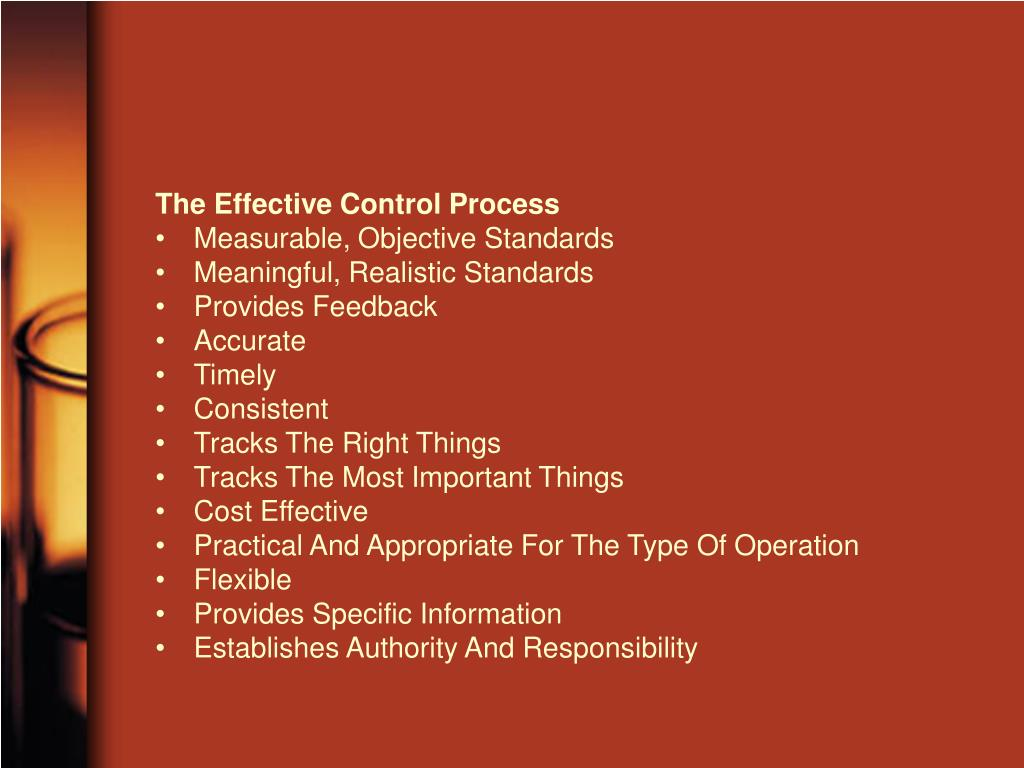 The Effective Control Process