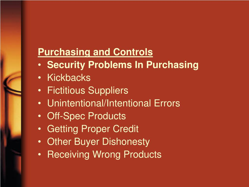 Purchasing and Controls