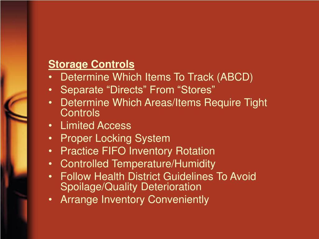 Storage Controls