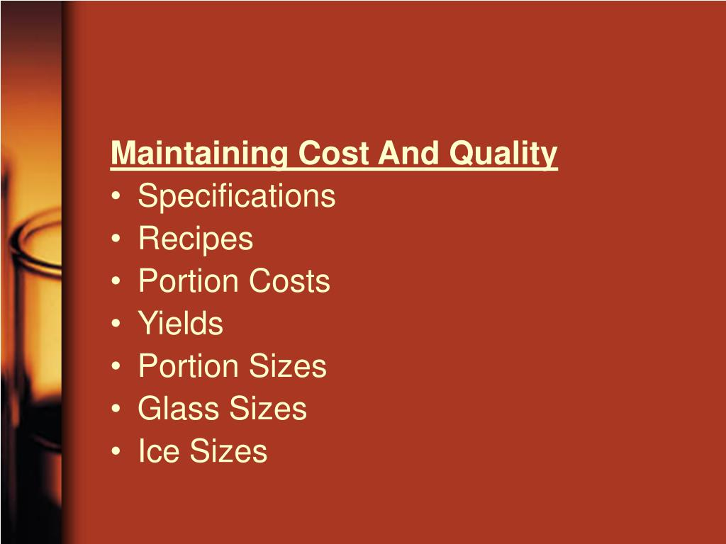 Maintaining Cost And Quality