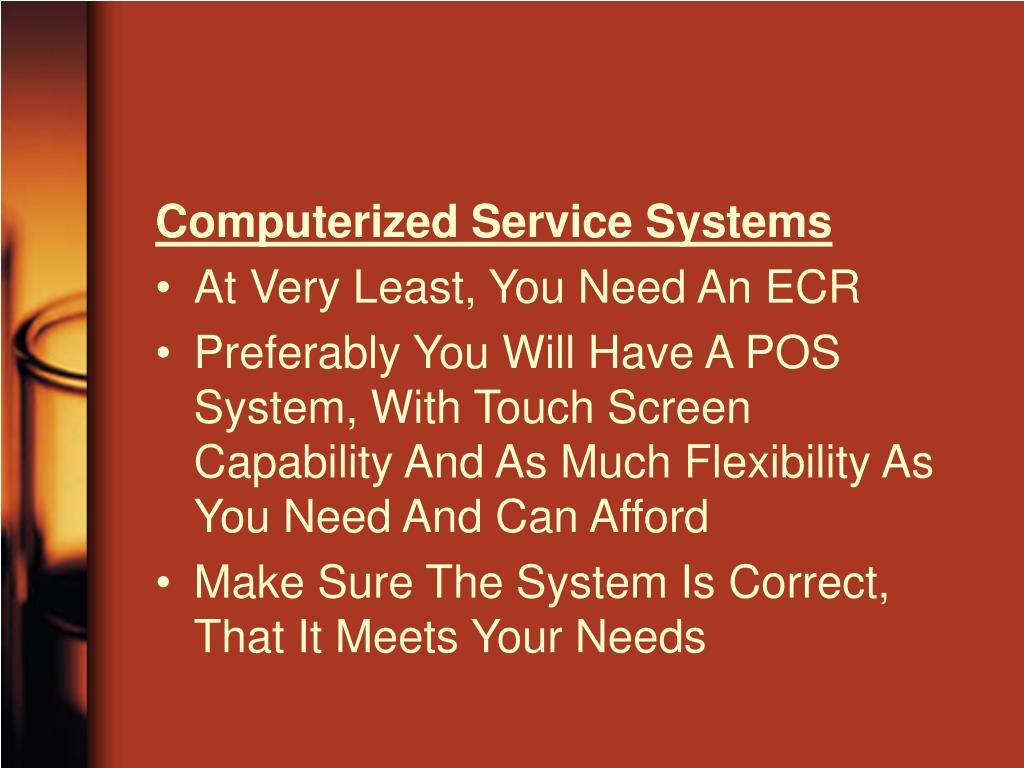 Computerized Service Systems