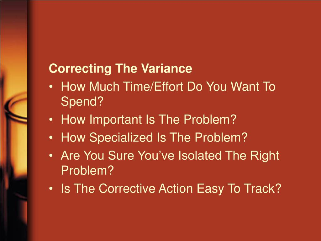 Correcting The Variance
