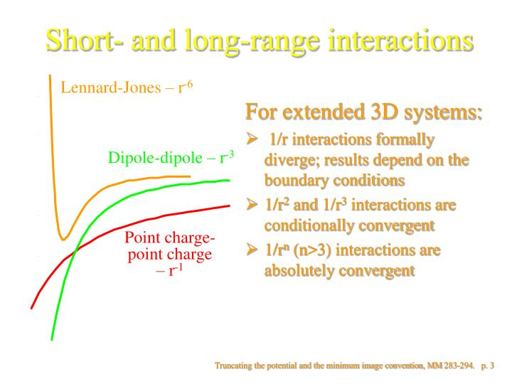 Short and long range interactions