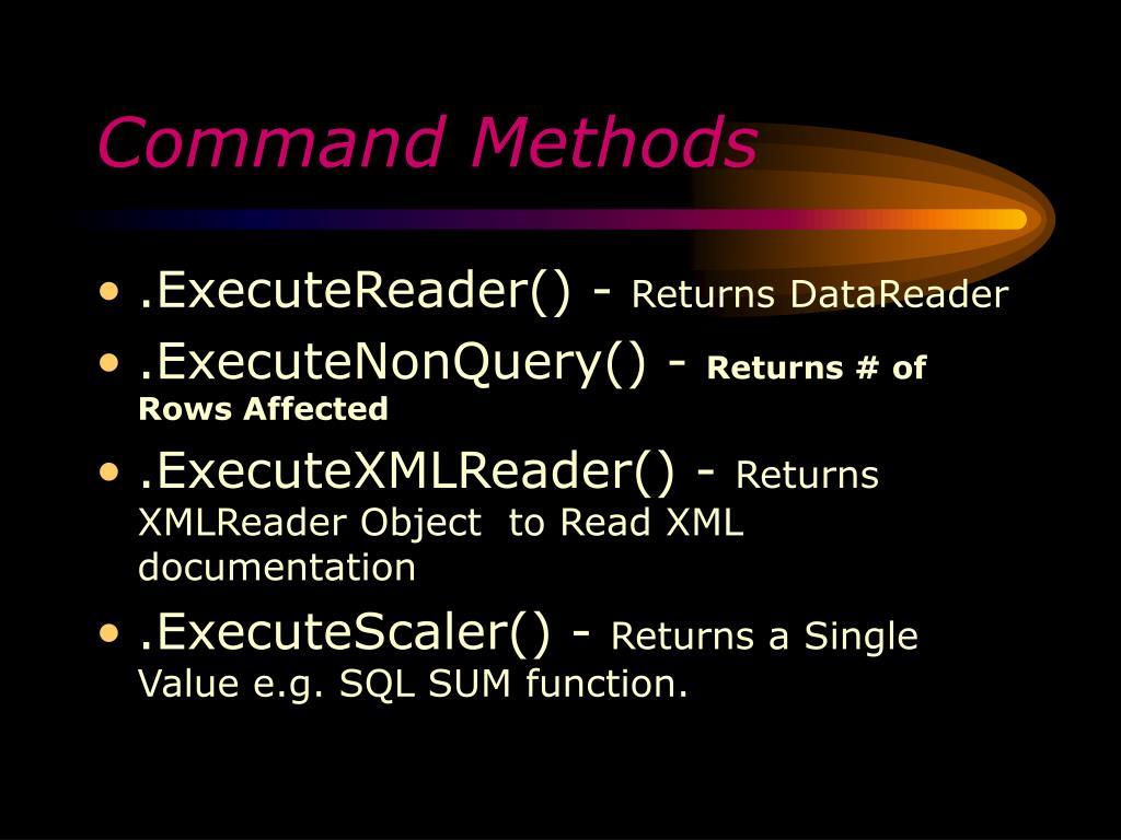 Command Methods