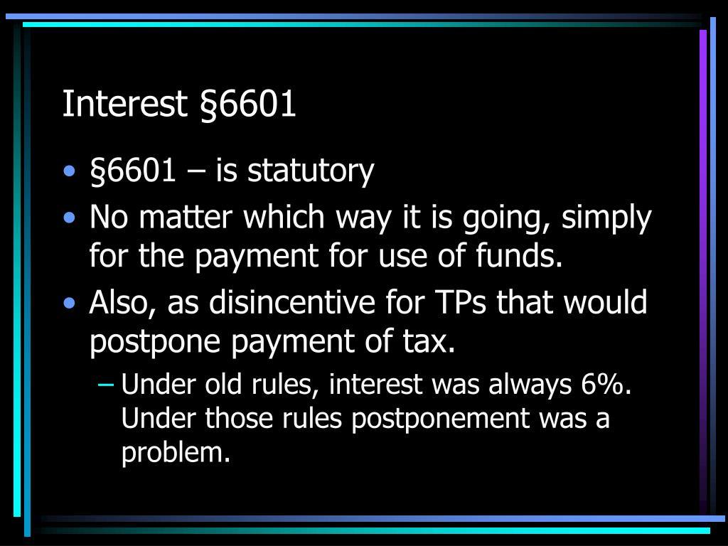 Interest §6601