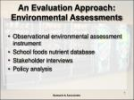 an evaluation approach environmental assessments
