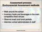 assessment process environmental assessment methods