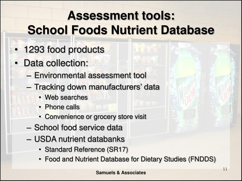 Assessment tools: