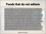 foods that do not adhere