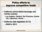policy efforts to improve competitive foods