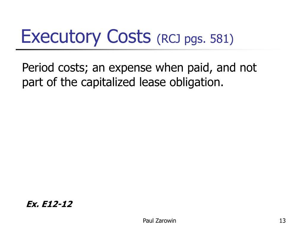 Executory Costs