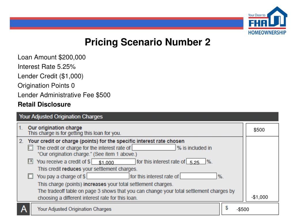 Pricing Scenario Number 2
