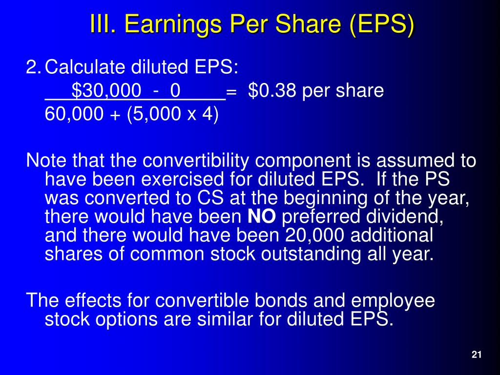2.	Calculate diluted EPS: