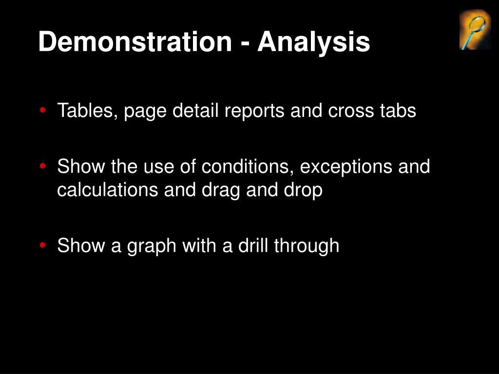 Demonstration - Analysis