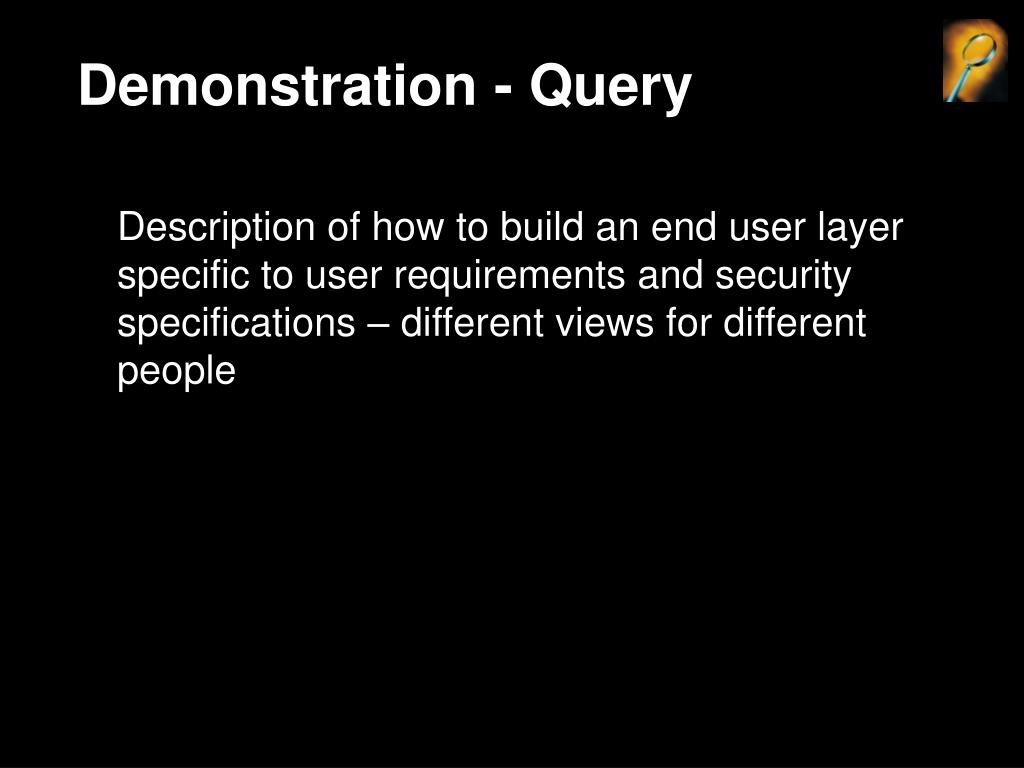 Demonstration - Query
