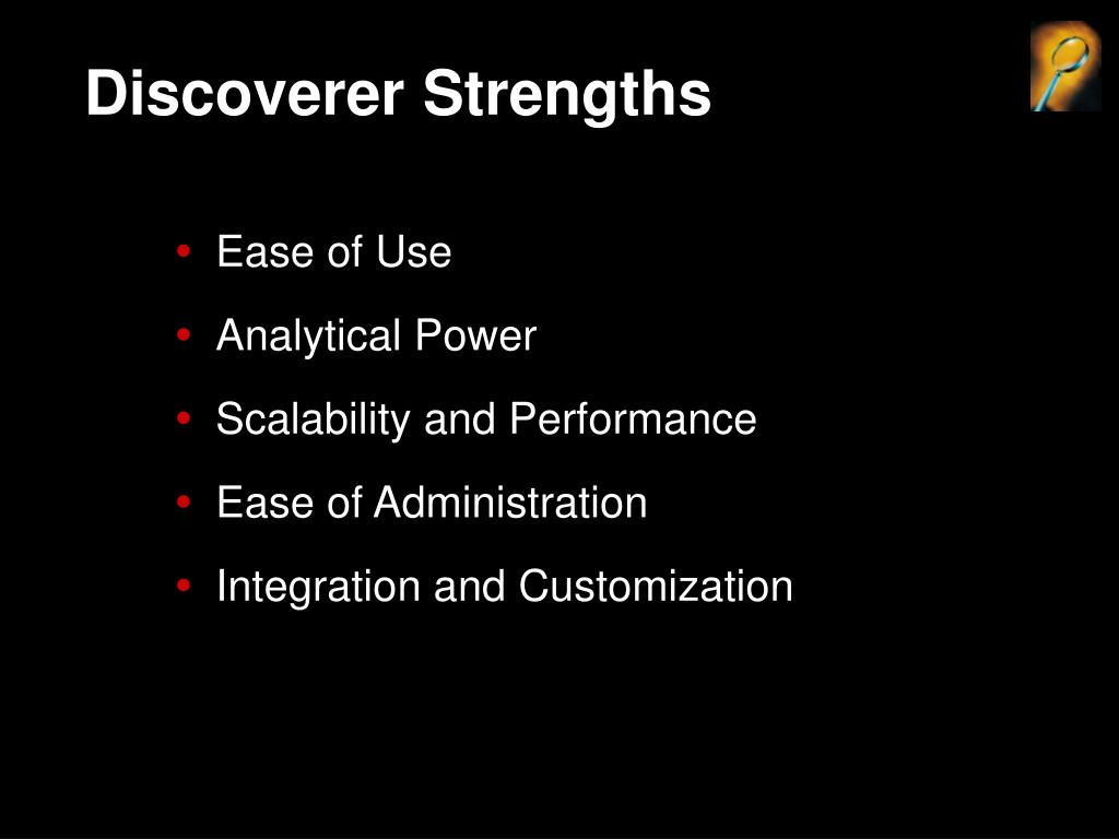 Discoverer Strengths