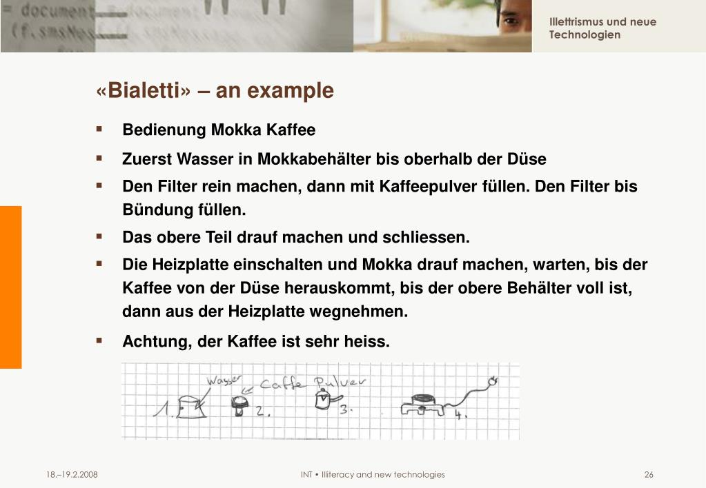 «Bialetti» – an example
