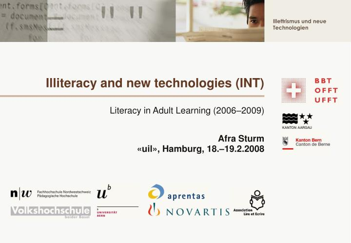 Illiteracy and new technologies int