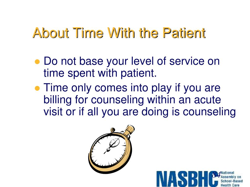 About Time With the Patient