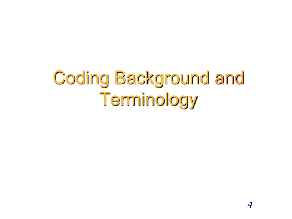 Coding Background
