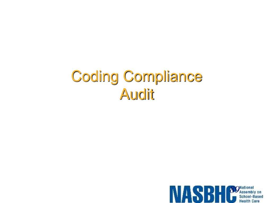 Coding Compliance Audit