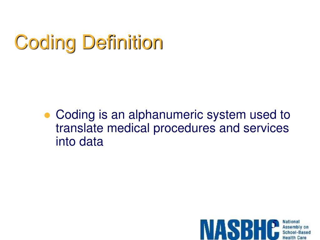 Coding Definition