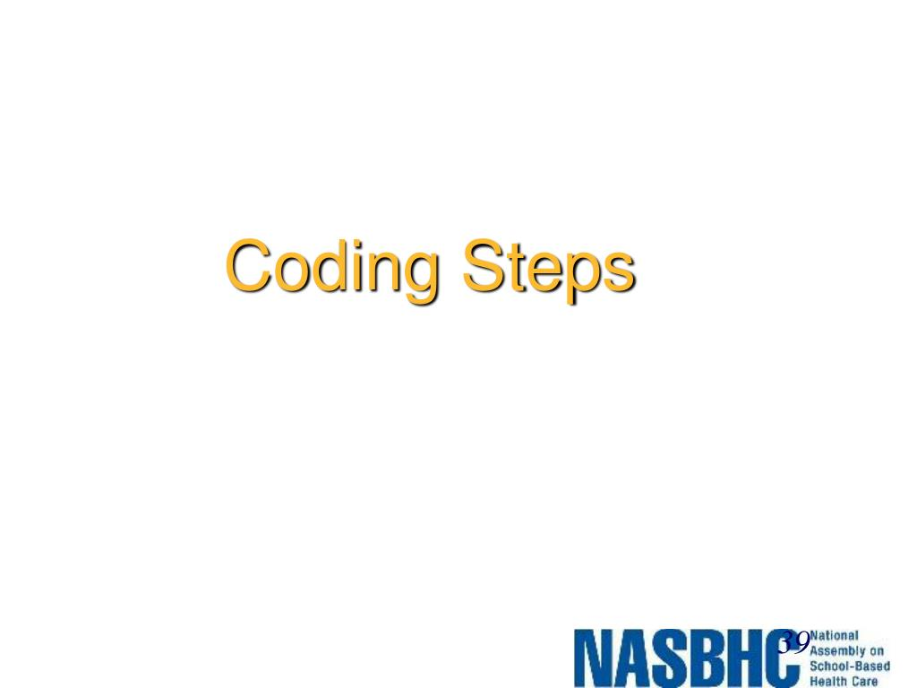 Coding Steps