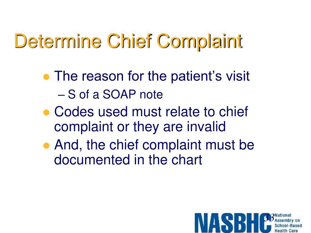 Determine Chief Complaint