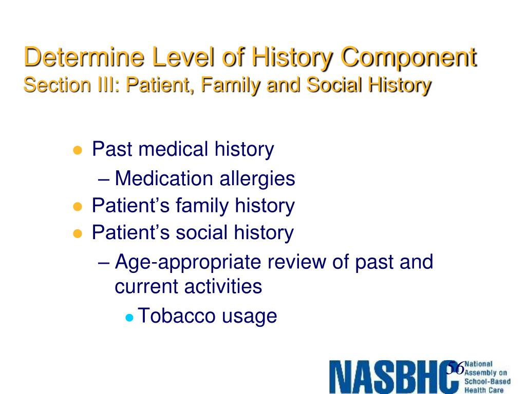 Determine Level of History Component
