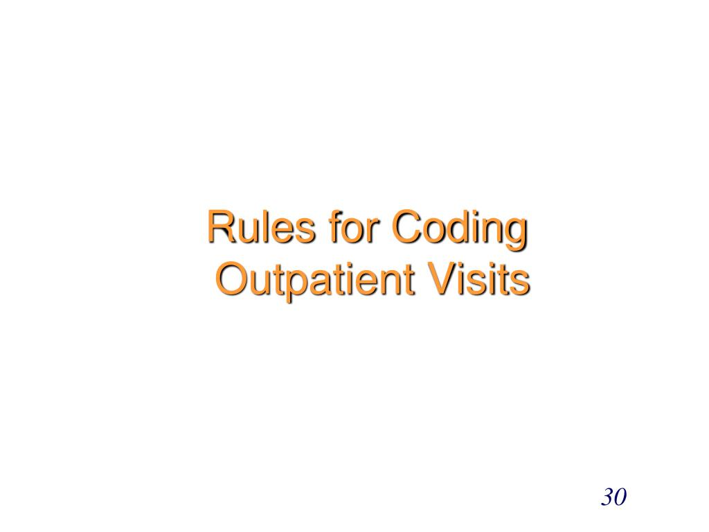 Rules for Coding