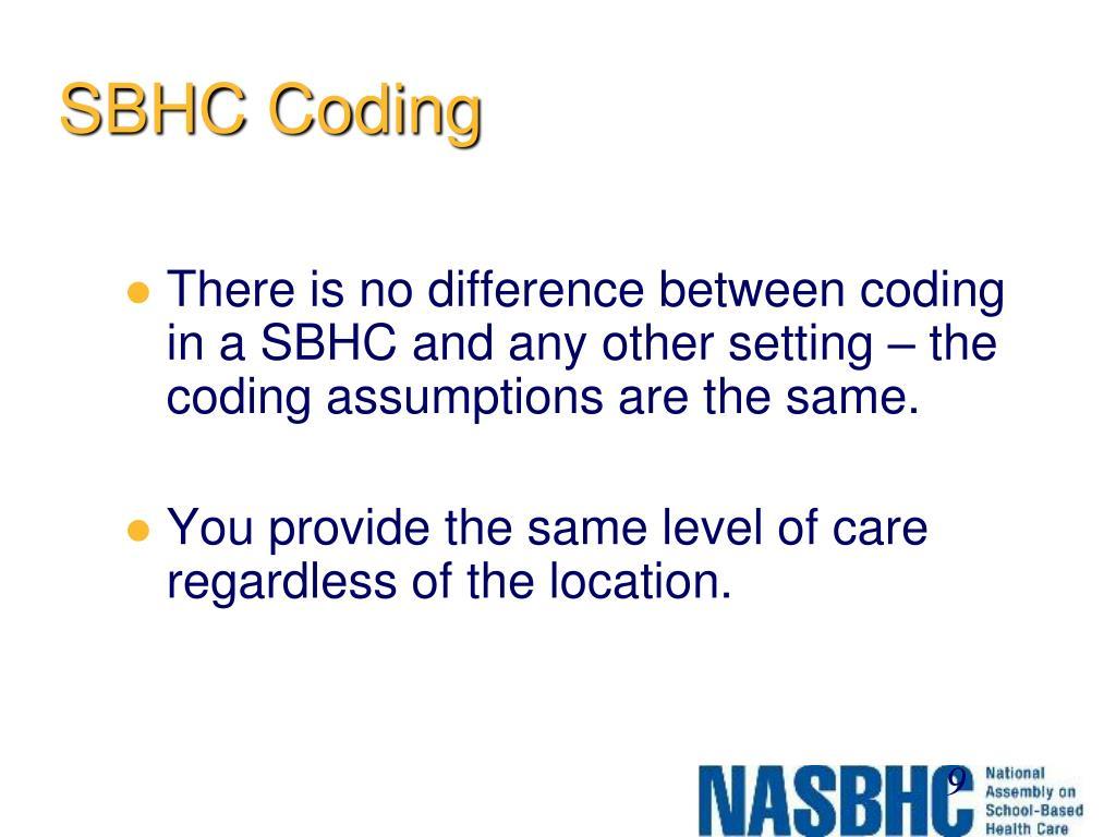 SBHC Coding