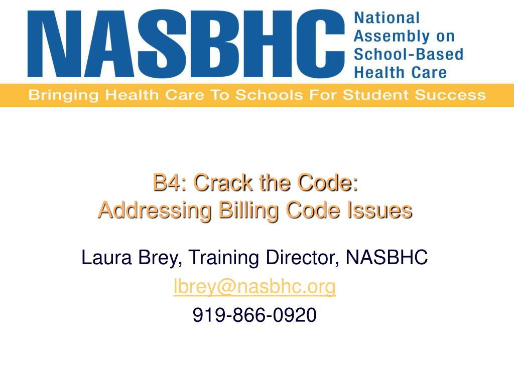 B4: Crack the Code: