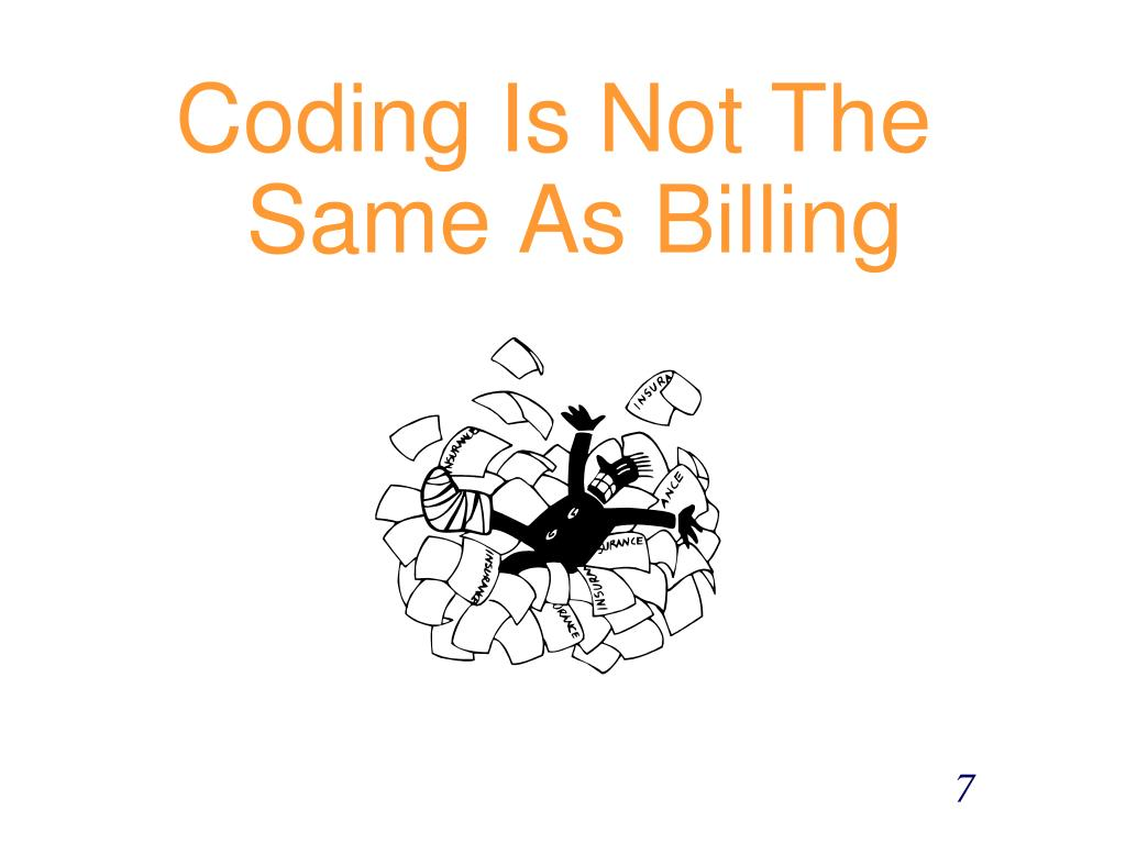 Coding Is Not The Same As Billing