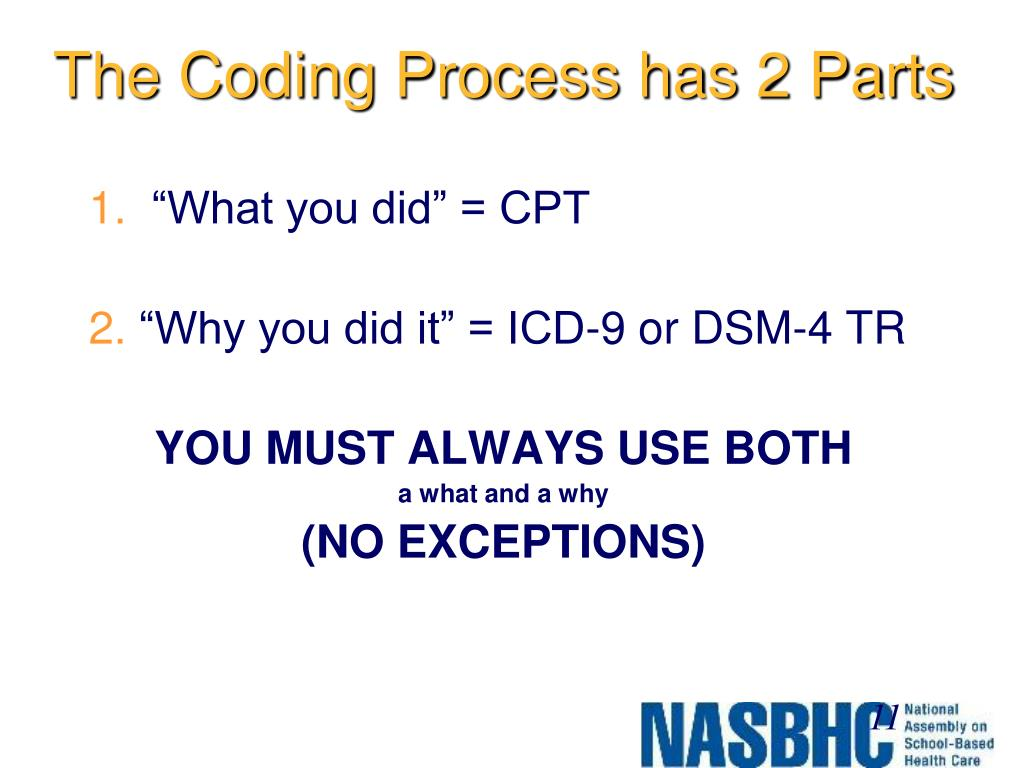 The Coding Process has 2 Parts