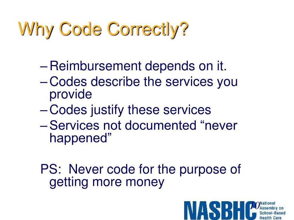 Why Code Correctly?