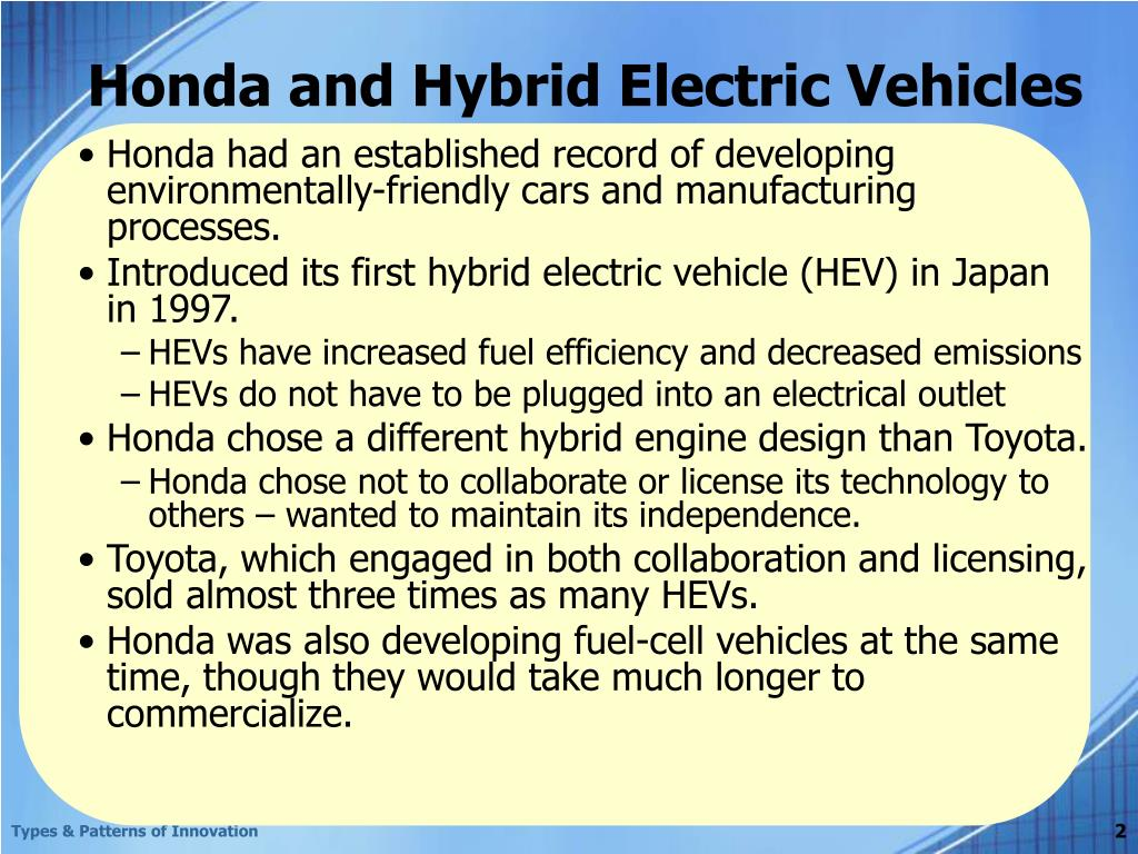 are hybrid electrical vehicles a radical innovation or an incremental innovation Innovation increasing in hybrid-electric cv market: infiniti research infiniti research has observed that automakers are increasingly manufacturing energy-efficient vehicles and improving the design of smart cars.