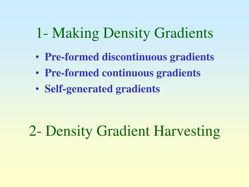 1 making density gradients