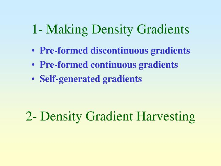 1 making density gradients
