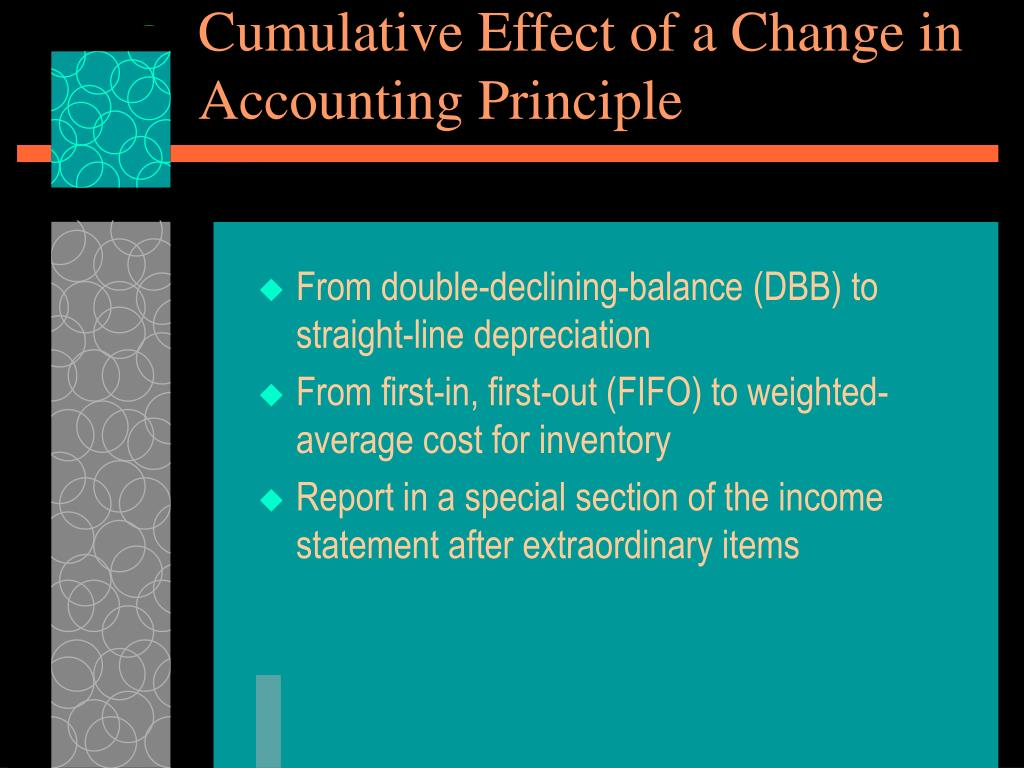 Cumulative Effect of a Change in Accounting Principle