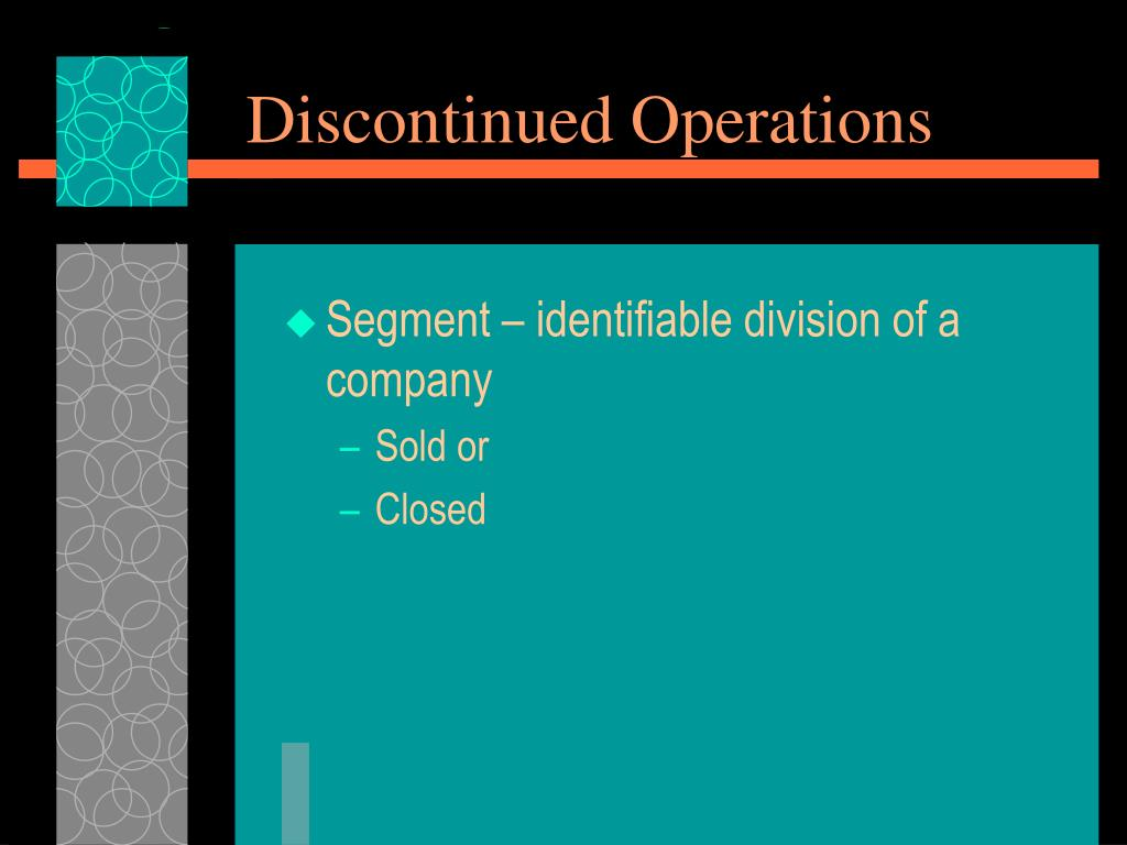 Discontinued Operations