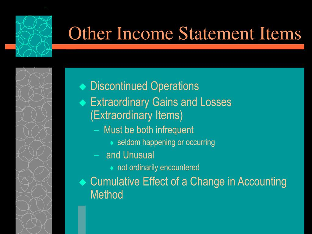 Other Income Statement Items