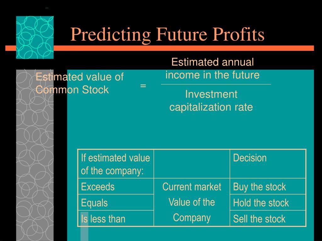 Predicting Future Profits