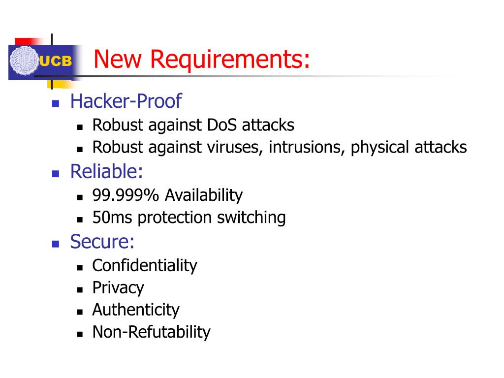 New Requirements: