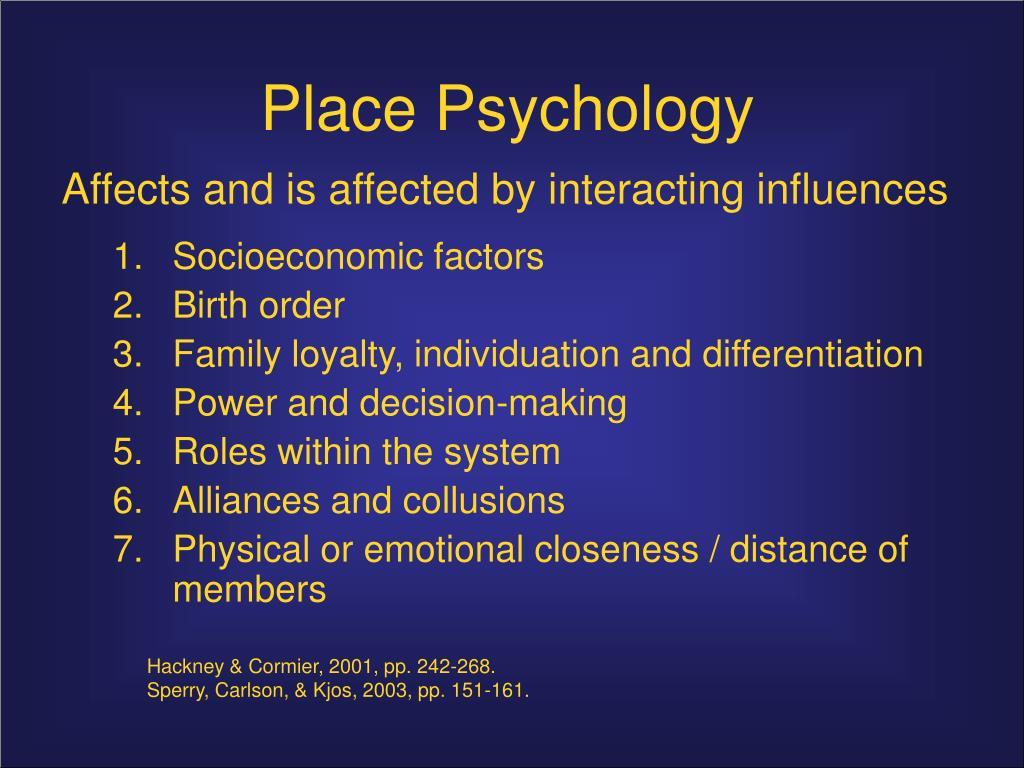 Place Psychology